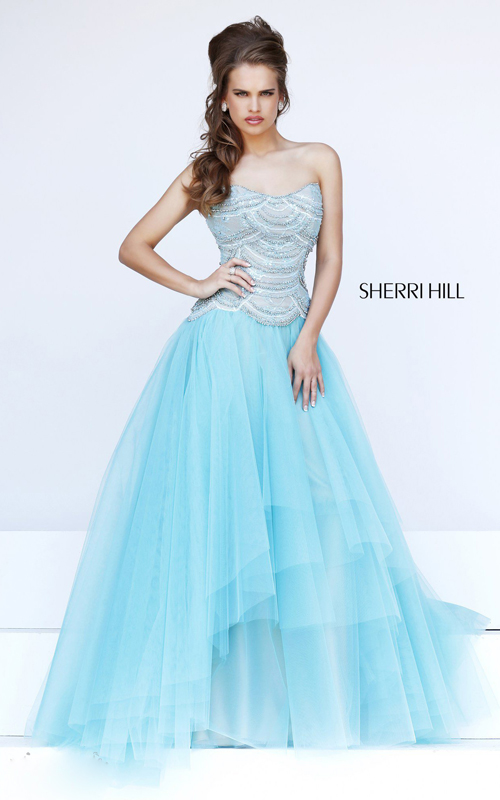 best sweet sherri hill 11082 aqua prom dress 2015