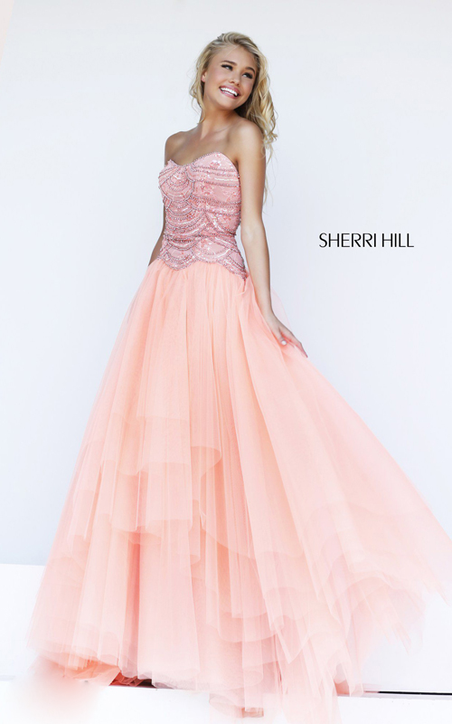 hot sale blush sherri hill 11082 junior prom dress