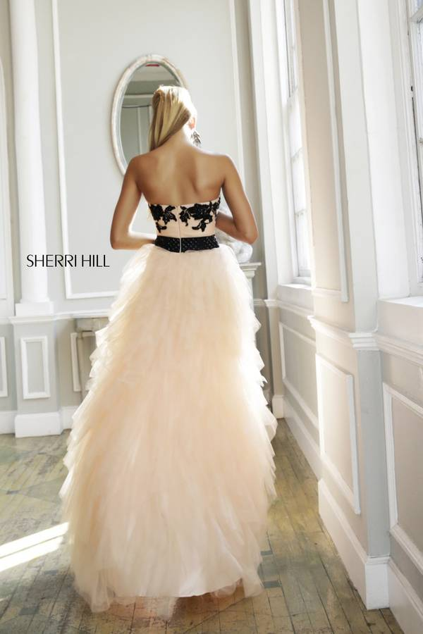 Blush Black Lace Prom Dress Sherri Hill 4318_01
